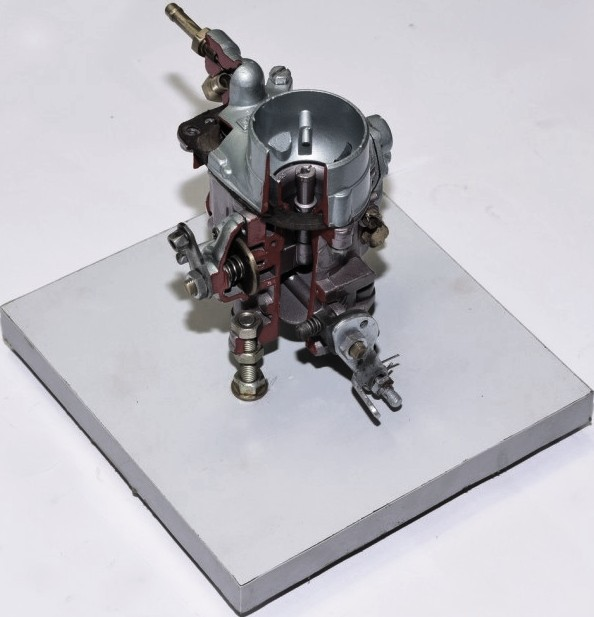 Cut Section Model of Solex Carburetor