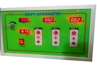RAPID CHLORIDE PENETRATION/ PERMEABILITY TEST APPARATUS FOR 3- CELL:
