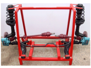 Model No. XS-60 CUT SECTION MODEL OF COMPELETE COIL SPRING TYPE FRONT SUSPENSION SYSTEM