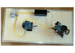 Model No.XS-50 DEMONSTRATION BOARD OF FUEL SUPPLY SYSTEM OF A PETROL ENGINE