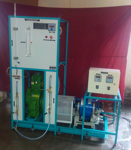TWO CYLINDER FOUR STROKE DIESEL ENGINE TEST RIG WITH EDDY CURRENT DYANAMOMETER