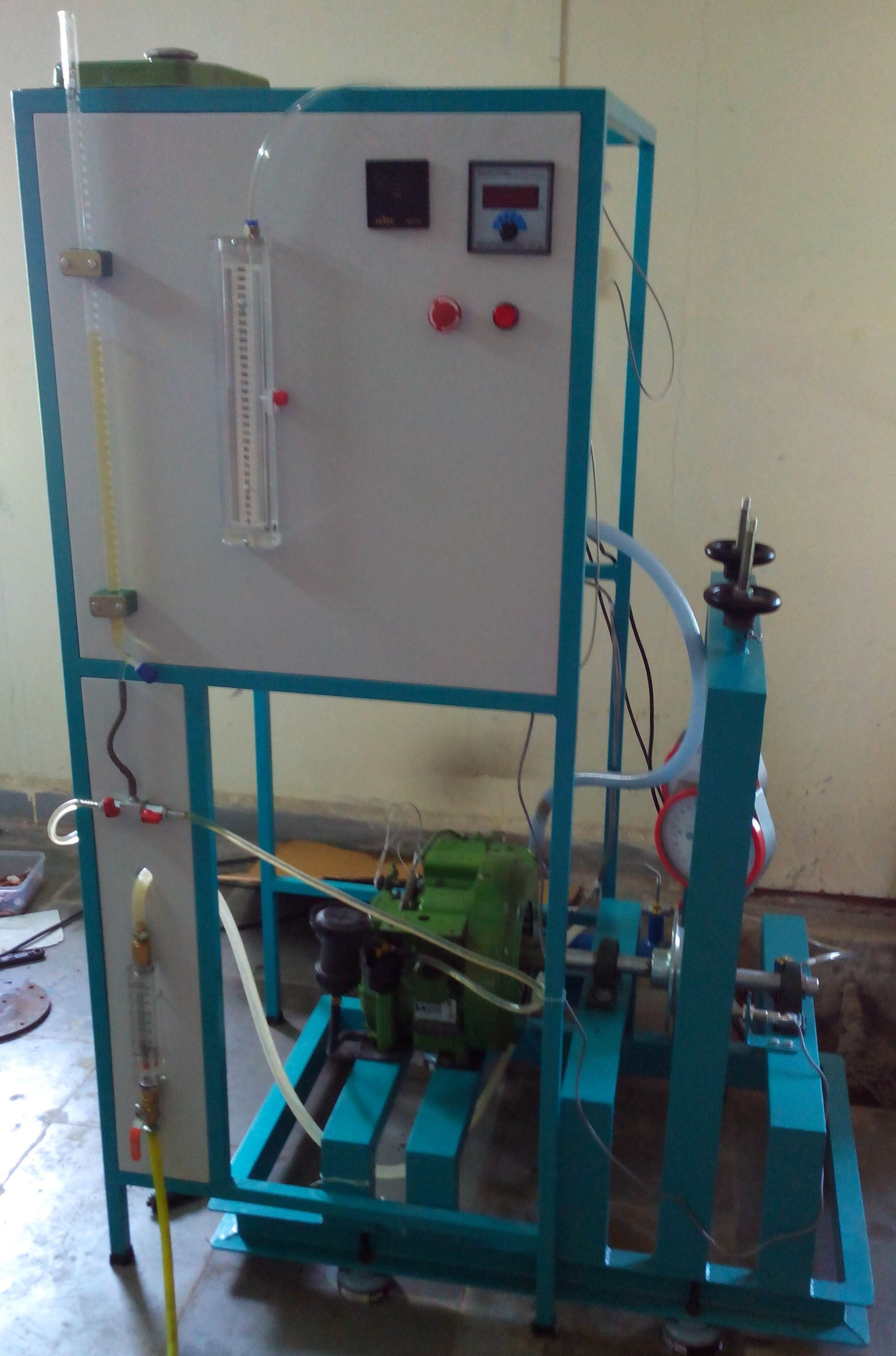 SINGLE CYLINDER FOUR STROKE DIESEL ENGINE TEST RIG WITH ROPE BRAKE DYNAMOMETER