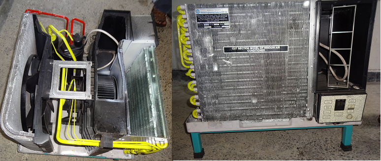 CUT SECTION MODEL OF WINDOW AIR CONDITIONER