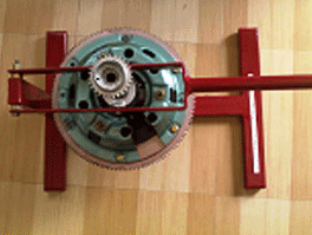 Model NO. XS-25 CUT SECTION MODEL OF SINGLE PLATE COIL SPRING CLUTCH SYSTEM