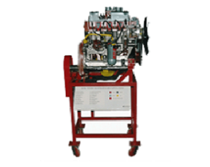 Model No.XS-04: MODEL OF CUT SECTIONED PETROL MPFI ENGINE ASSEMBLY WITH CLUTCH AND FIVE SPEED GEAR BOX (WORKING)