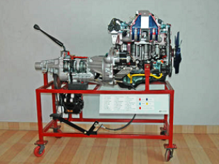 Cut section Model of MPFI Engine with Gear box